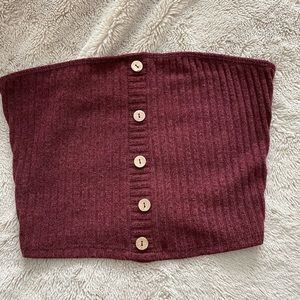 Windsor burgundy tube top